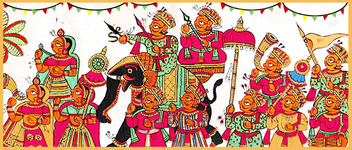 India being a diverse country, has a wide variety of art forms that reflect Indian culture and tradition. Paintings like phad paintings, which originated in Rajasthan, are one of the most spectacular forms of art where you can see the talent of authentic Indian rural craftsmen and artists