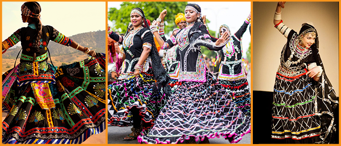 Kalbelia dance is a traditional folk dance of Rajasthan